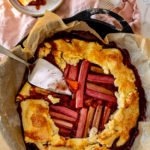 Rustic Strawberry Rhubarb Galette on The Fresh Exchange - Seasonal Garden to Kitchen Recipes