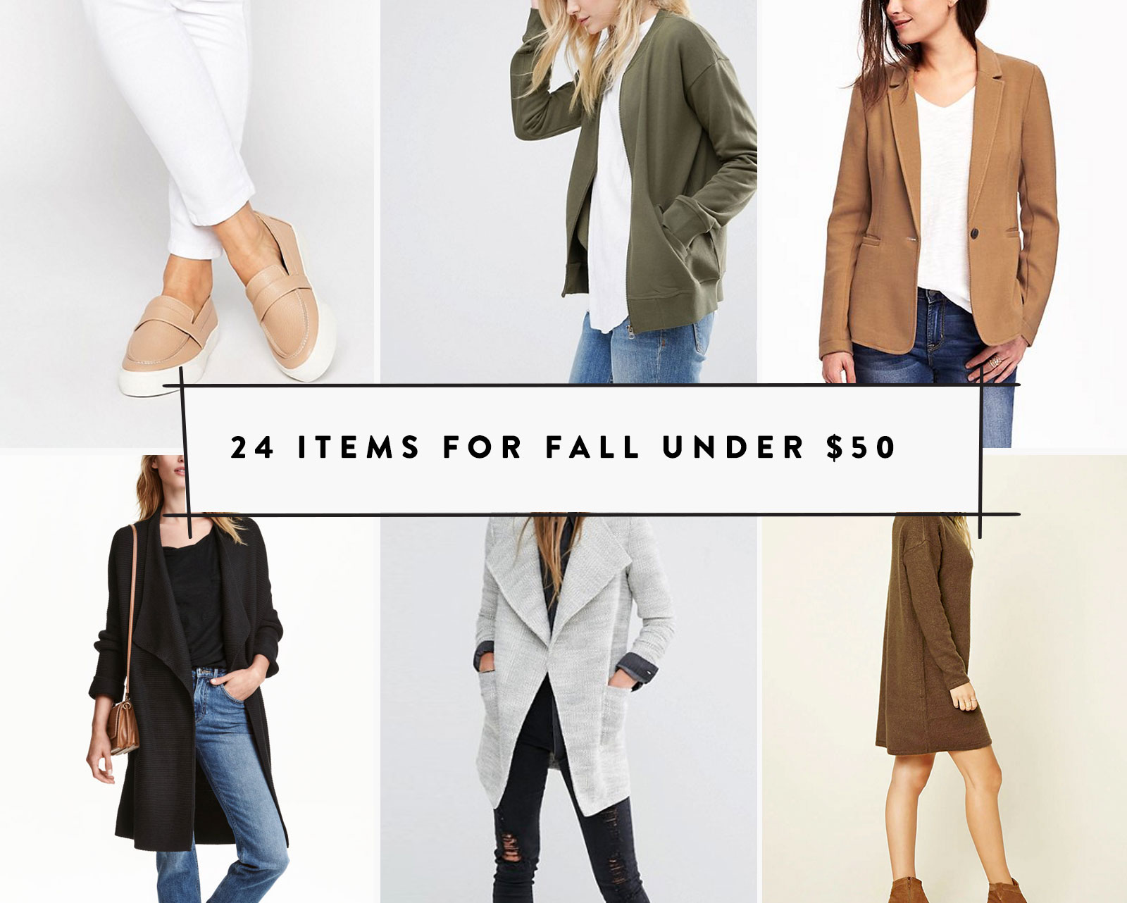 24 Items for Fall Under $50  |  The Fresh Exchange