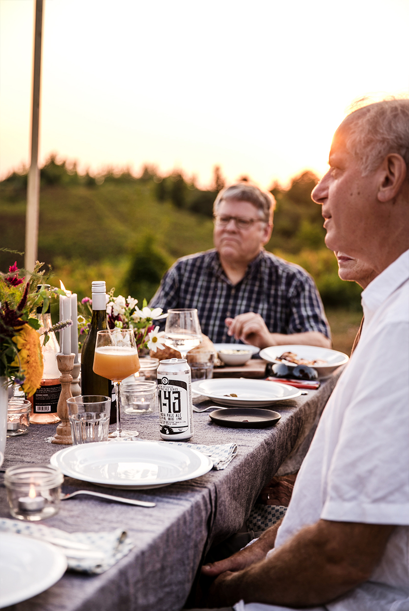 A Simple and Beautiful Summer Dinner Party with A Couple Cooks