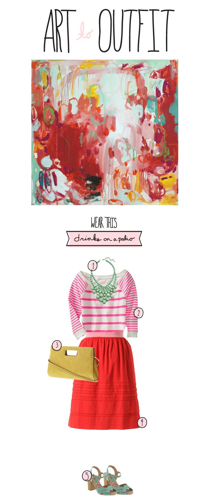 Art to Outfit, Megan Gilger, Michelle Armas Art,