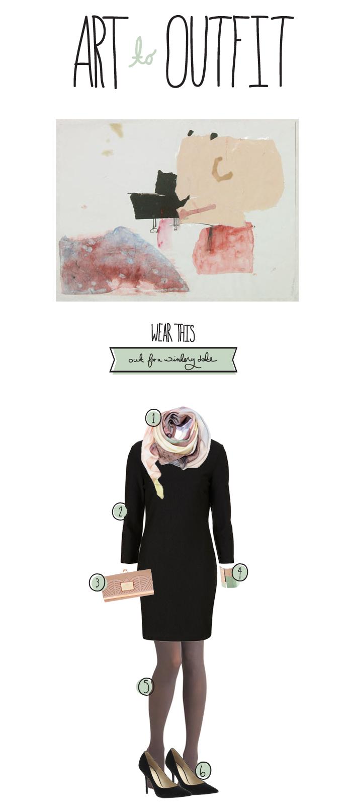 wintery date inspiration, little black dress, Megan Gilger, Fresh Exchange