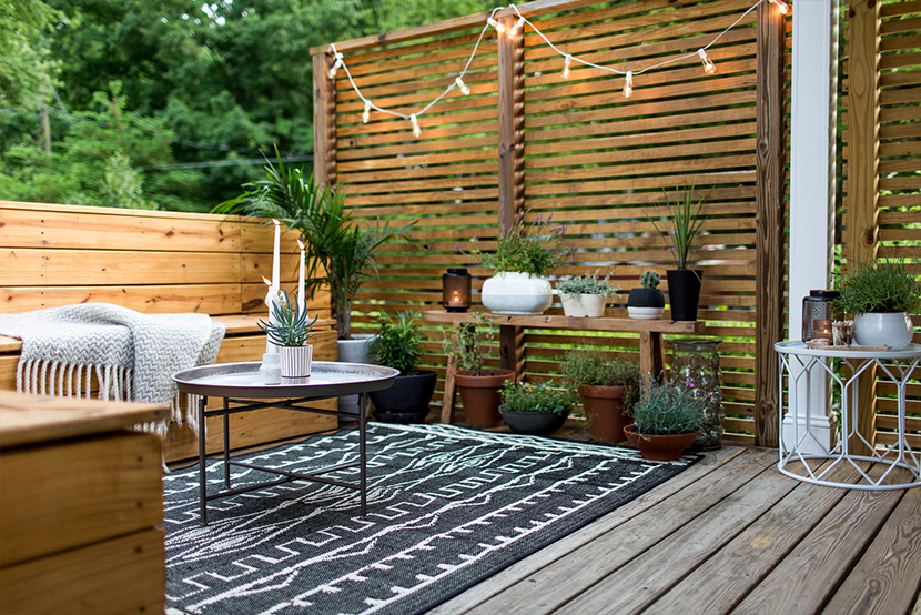 An outdoor revamp with at home the final look fresh - Amenagement petite terrasse ...