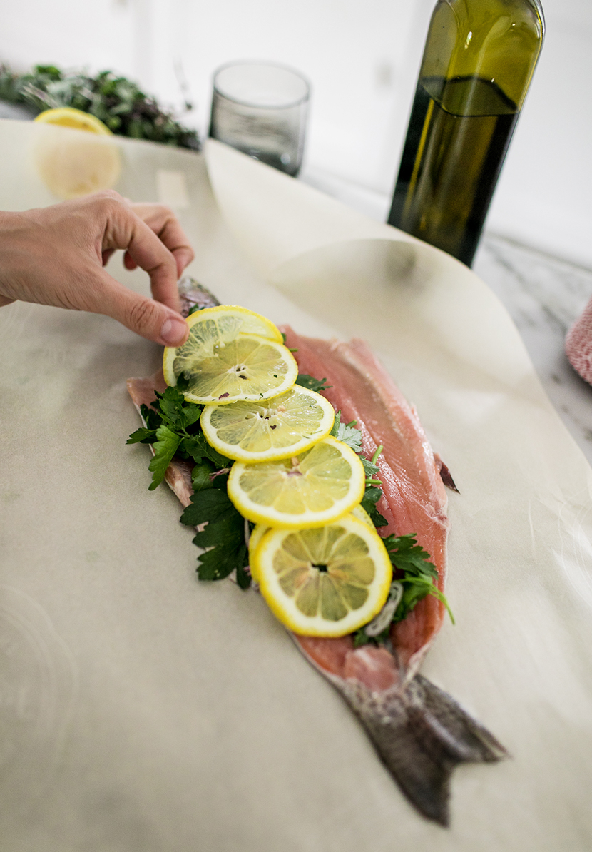 A Recipe for a simple way to bake a whole Rainbow Trout this summer. Get the Recipe on The Fresh Exchange.