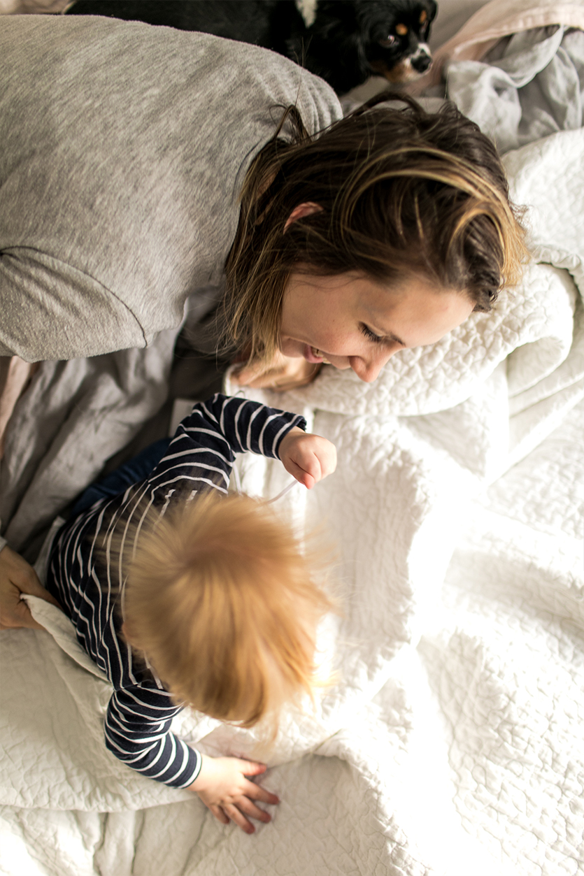 Motherhood is about finding beauty in the mess, the bedheads, and the imperfect bits of life. Expecting less from situations and moments so instead you can absorb the beauty of what is unfolding right before your eyes. More on The Fresh Exchange today.