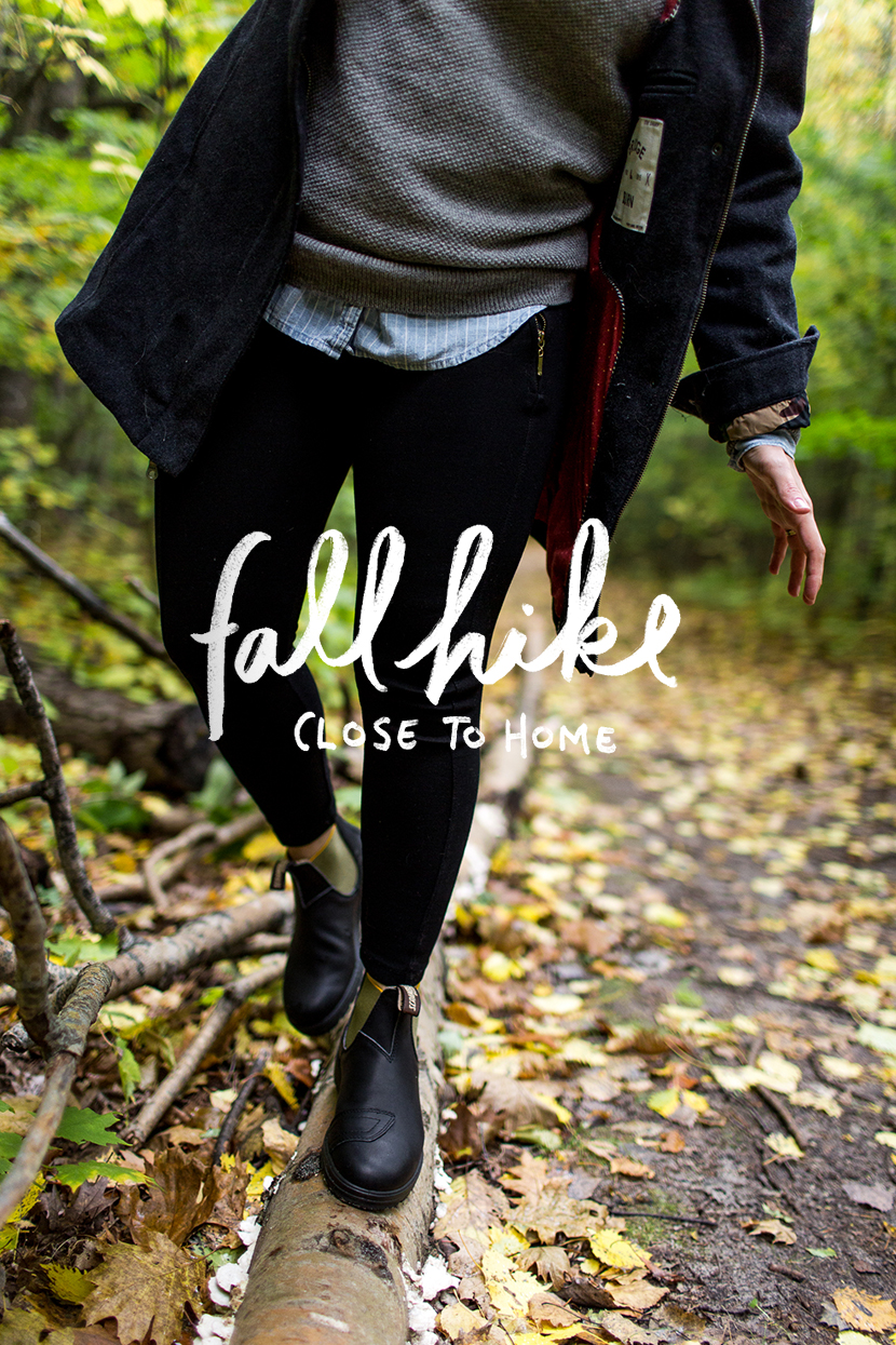 Hiking in the fall with Blundstone and Zappos on Old Mission Peninsula in Traverse City, Michigan | The Fresh Exchange