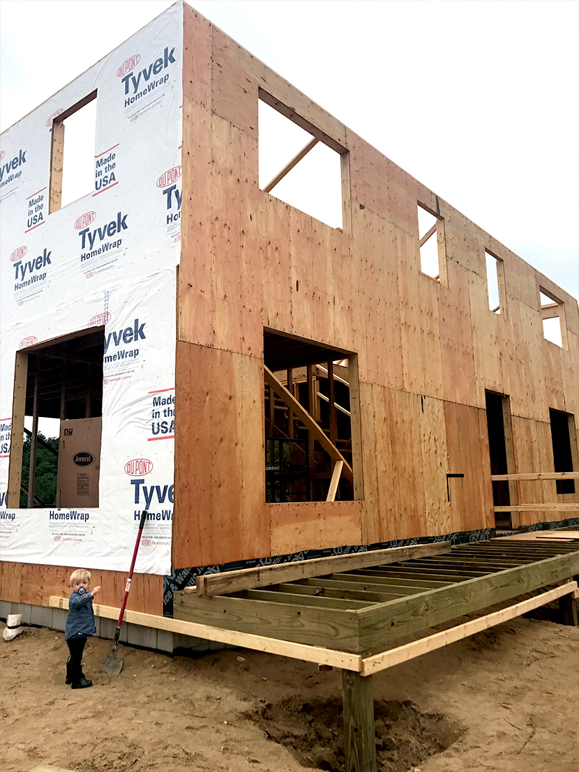 Building our dream modern farmhouse in Leelanau County, Michigan. It is framed and we the exterior gets its look in the coming weeks. More on the Fresh Exchange.