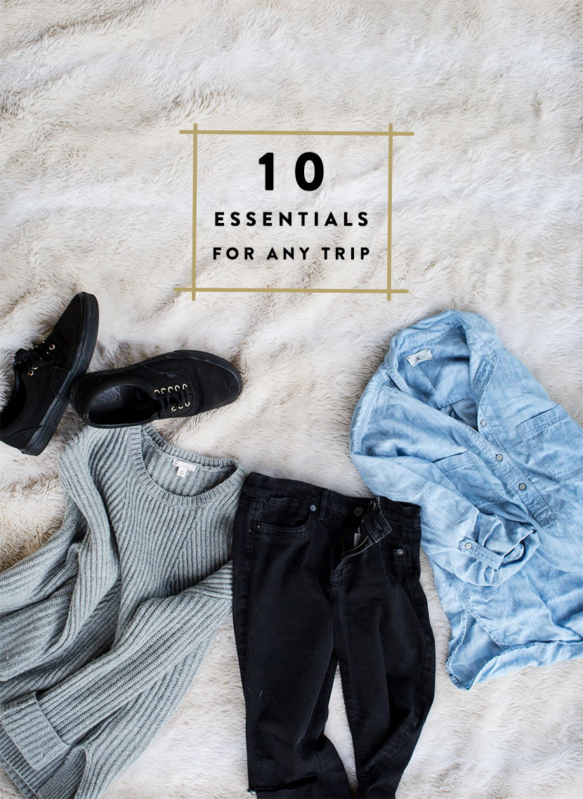 These are the 10 essentials to pack for a trip. This is how to pack essentials for a minimalist trip. Pack these essential items for every trip you take.