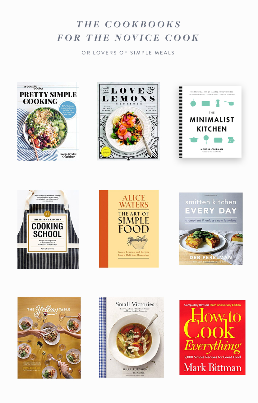 The best cookbooks for the novice cook or the lover of simple meals. The full list on The Fresh Exchange.