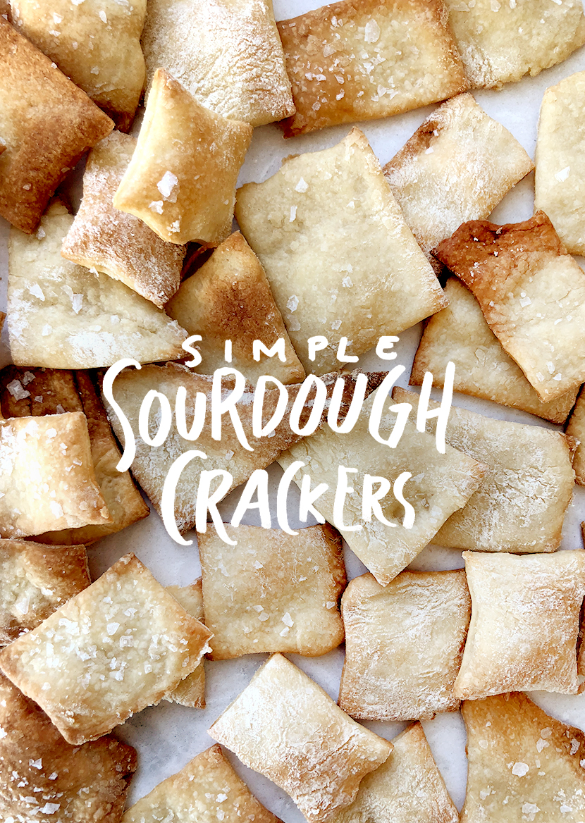 A pantry staple. Recipe for Simple Sourdough Crackers. Save $3 a month on organic cracker boxes by spending 30 minutes making your own each week.