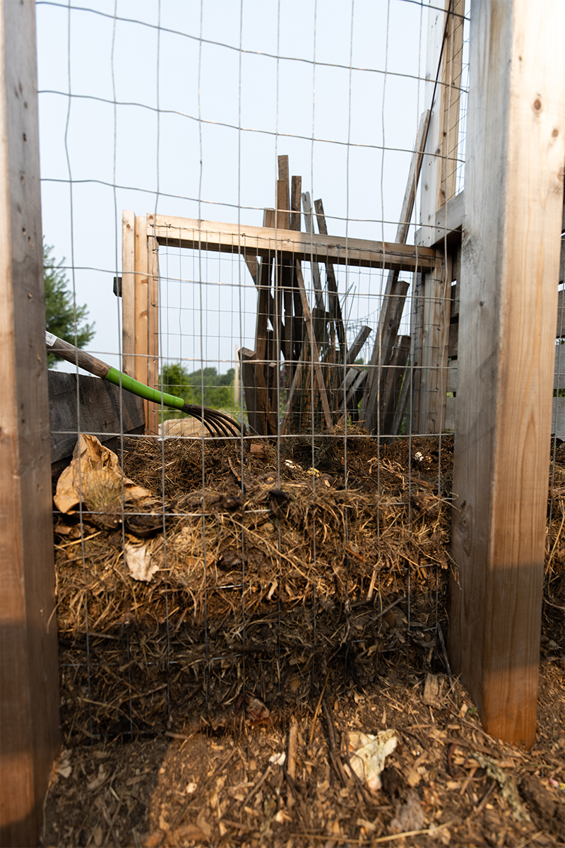 Compost pile working