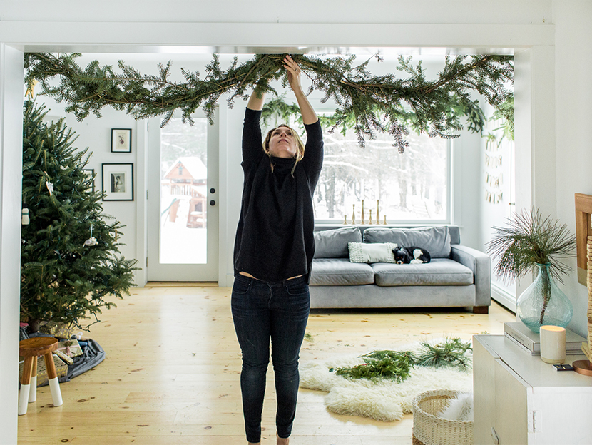 DIY for Holiday Garland foraged from your yard. A Simple and easy and cheap way to create great holiday decor this year. Check The Fresh Exchange for the full DIY.