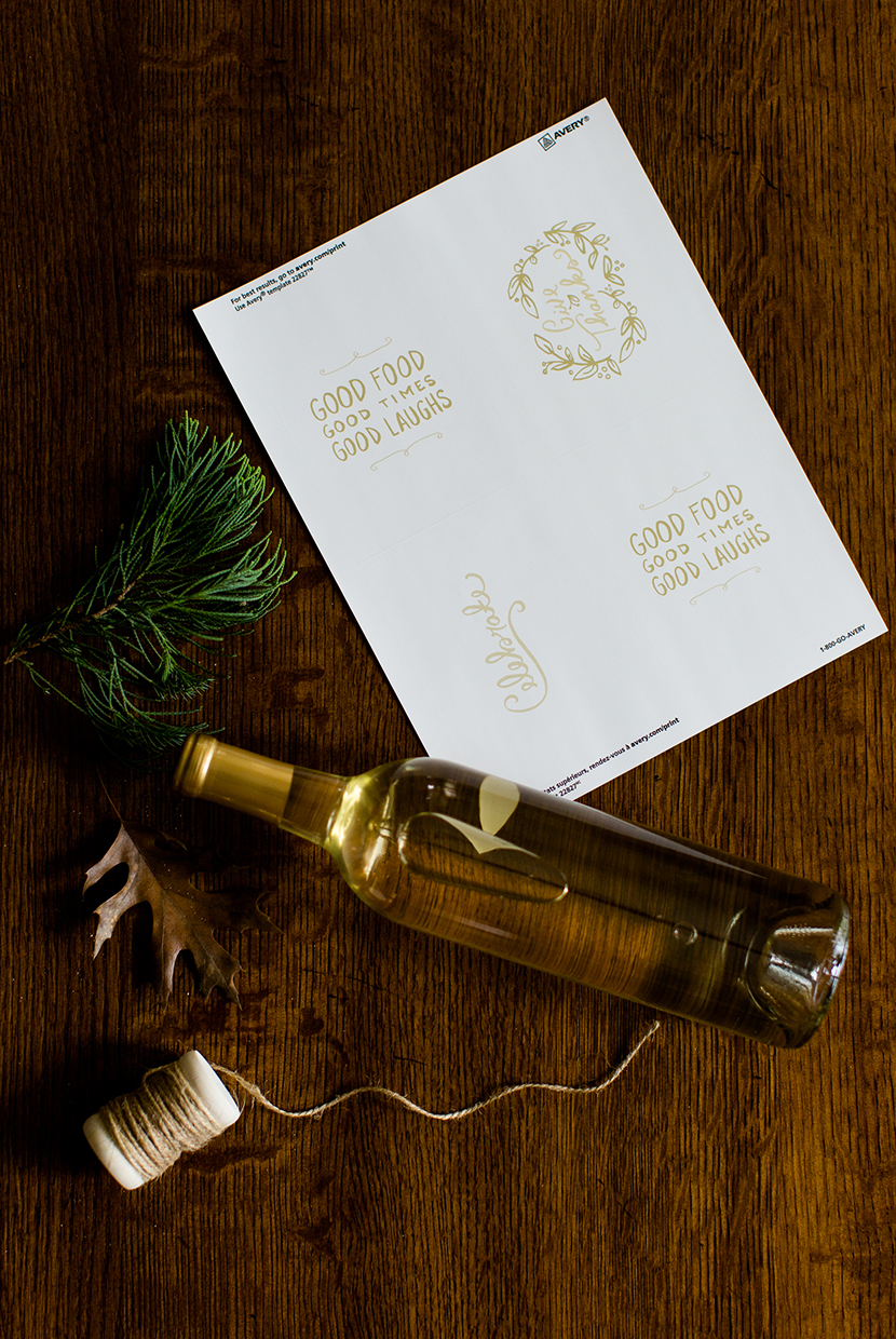 Diy Holiday Wine Labels Fresh Exchange