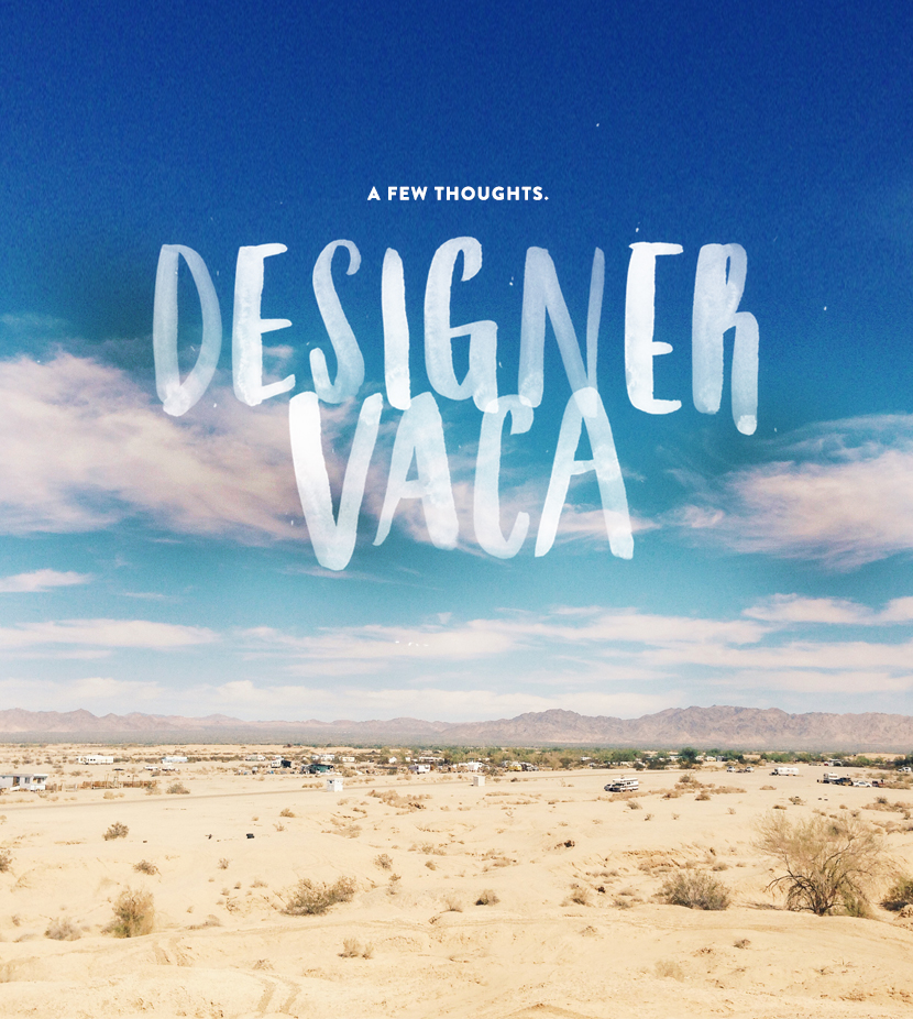 Designervaca : A Few Thoughts  |  The Fresh Exchange