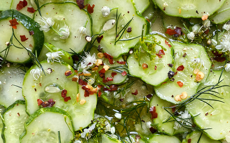 Simple Dill Cucumber Salad Recipe on The Fresh Exchange
