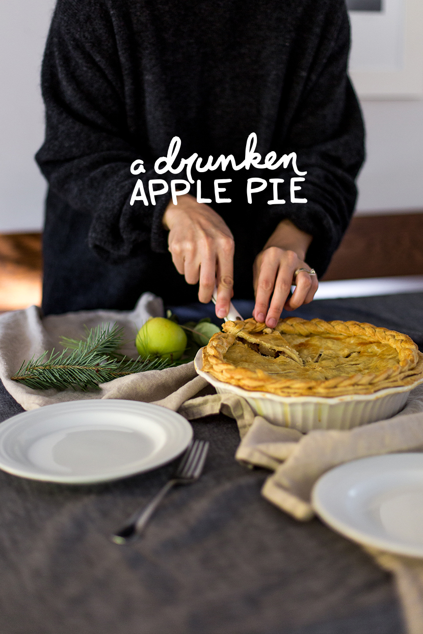 A Drunken Apple Pie Recipe. Adding in some bourbon and pears and this simple pie became something extra special. Recipe on the Fresh Exchange.