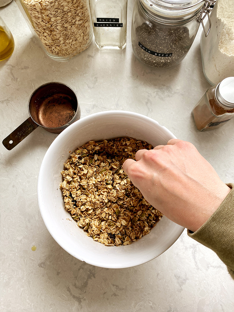Easy Healthy Granola Recipe to make from Pantry Staples