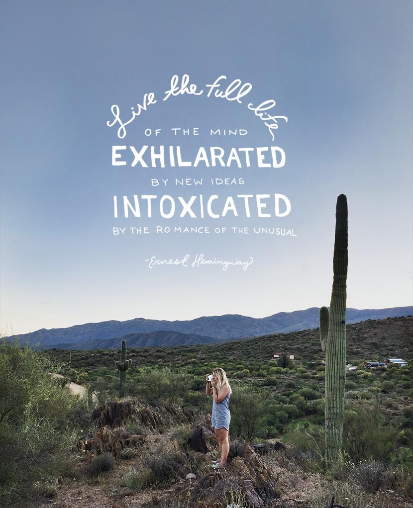 Live the full life --- Ernest Hemingway | The Fresh Exchange
