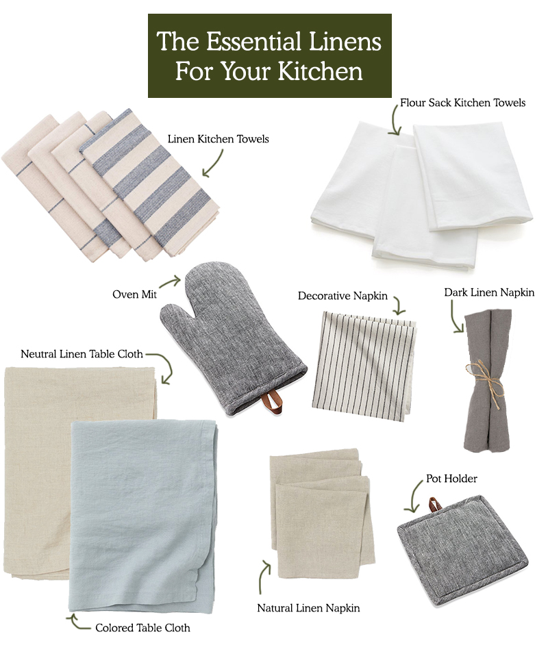 The Essential Linens for the Kitchen for Wedding Registry