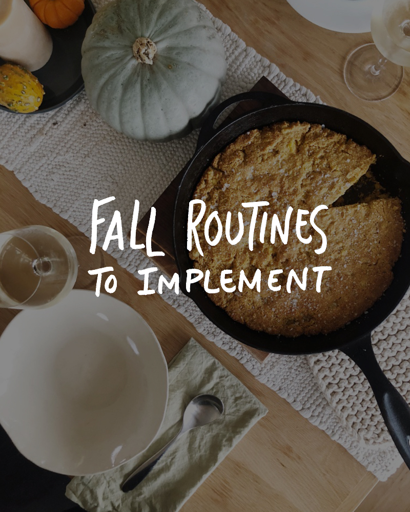 Fall Routines to Implement for a better fall.