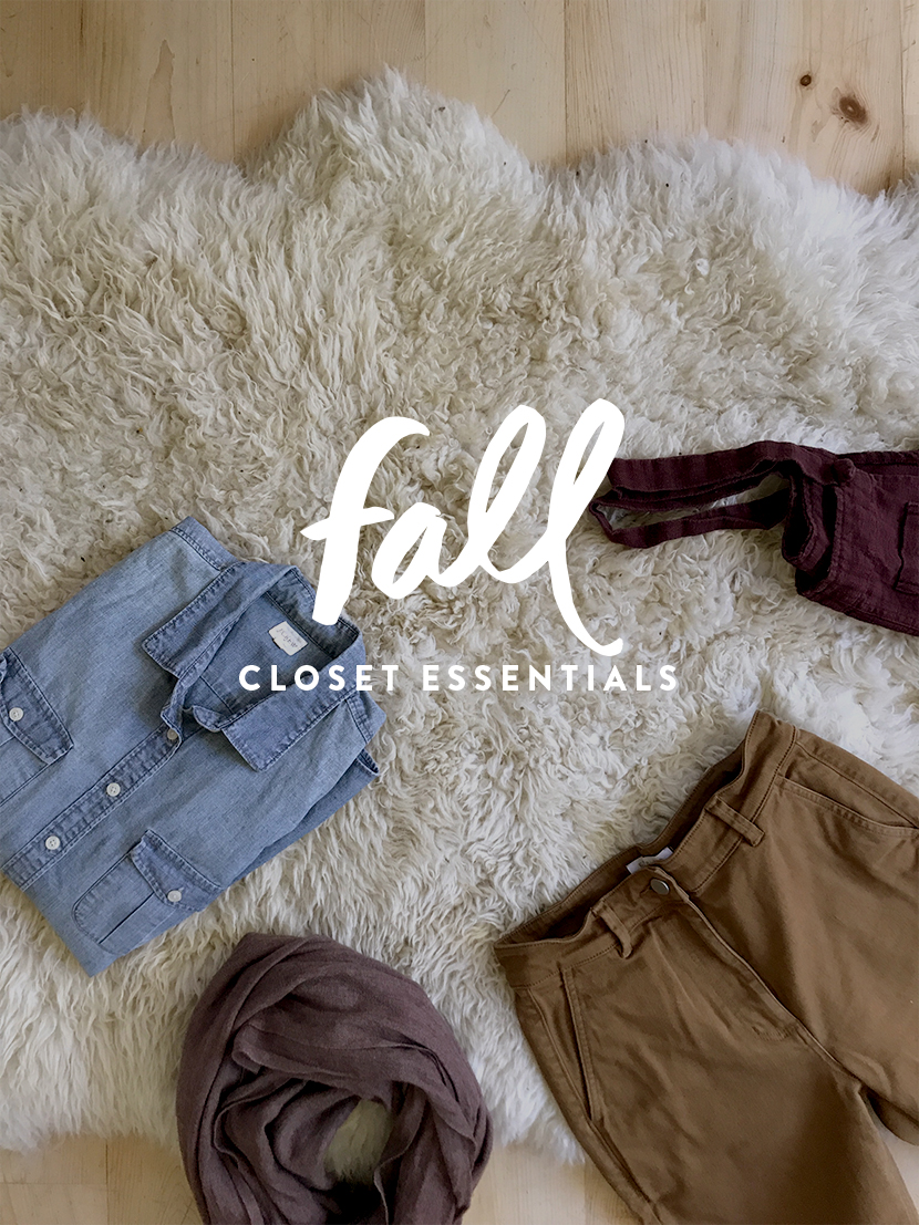 This is your guide to your Fall Wardrobe Essentials. A Fall Capsule Wardrobe from The Fresh Exchange.