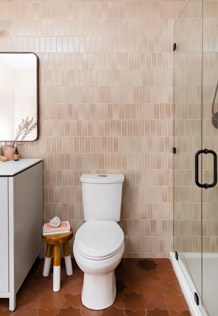 Building Home. Our basement bathroom oasis is also full of utility for our guests and life. See how we created it all with Fireclay Tile.