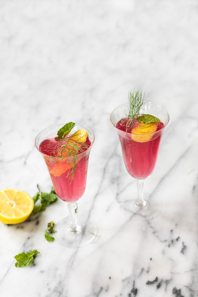 A Beet and Gin Garden Cocktail for spring. Perfect for a spring weekend sip. Get the recipe on The Fresh Exchange