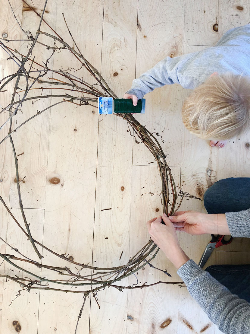 Simple DIY Grapevine Wreath You can do at home. Save Money by making your own Grapevine Wreath. The Fresh Exchange.