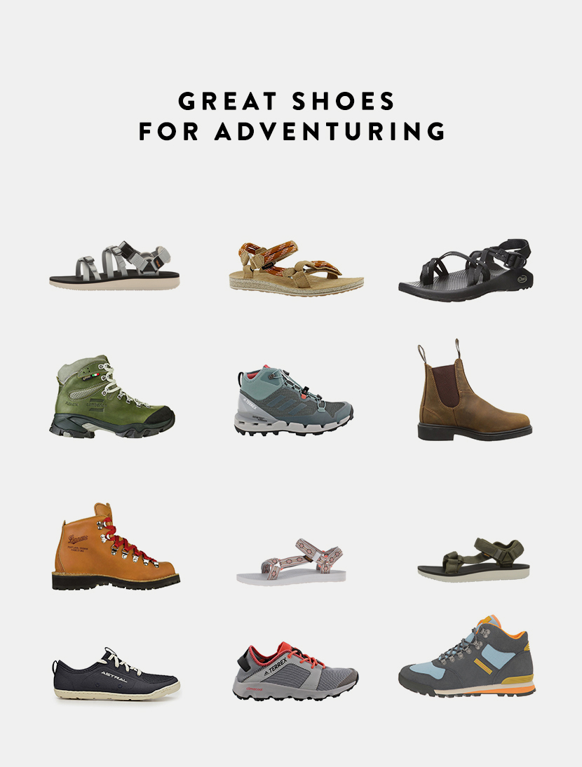 Great shoes for adventuring that are stylish and perform well in the outdoors this summer. See them all on The Fresh Exchange.