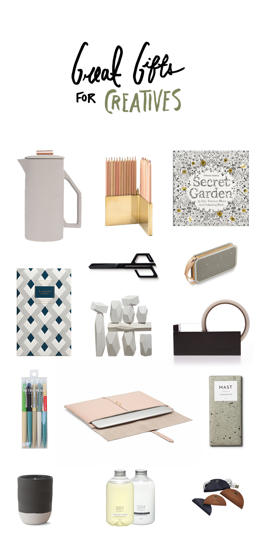 Great Gifts for Creatives | The Fresh Exchange