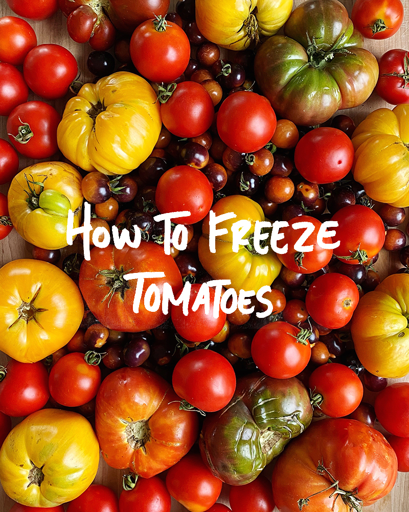 How to Freeze Tomatoes without Blanching