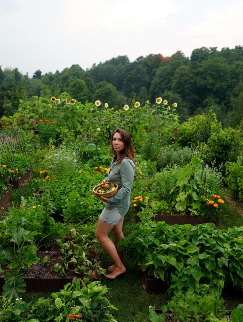 Woman in Garden in the Summer
