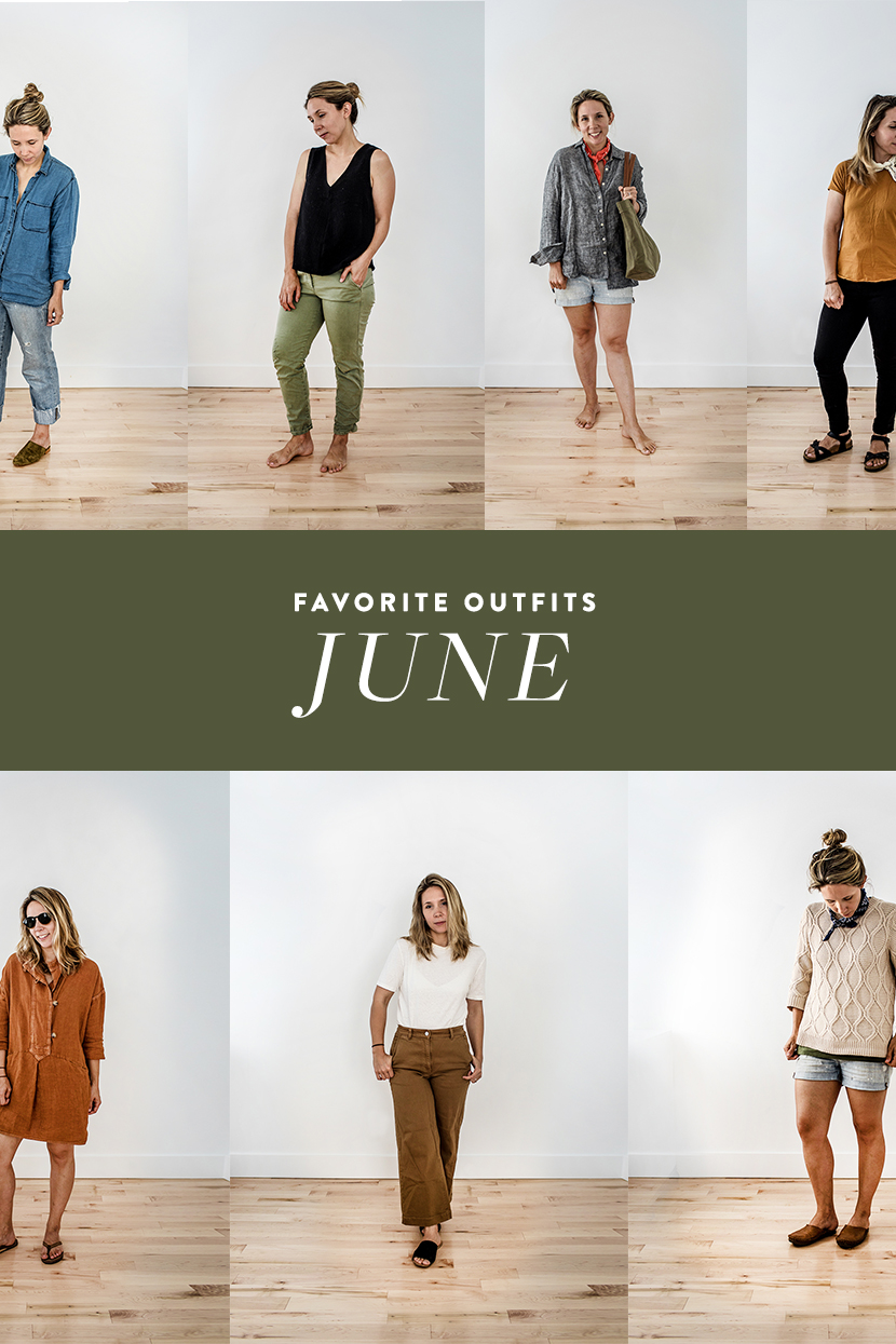 My favorite outfits I wore in June on The Fresh Exchange.