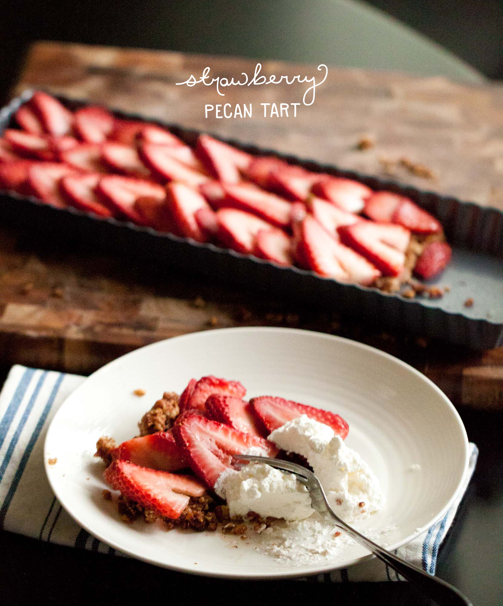 Just 5: Strawberry Pecan Tart from Passports and Pancakes  |  The Fresh Exchange