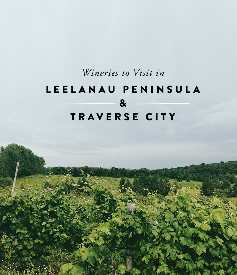 Winerires you should visit on your next trip to Leelanau Peninsula or Traverse City, Michigan. These are great Michigan wineries. A curated list from The Fresh Exchange.