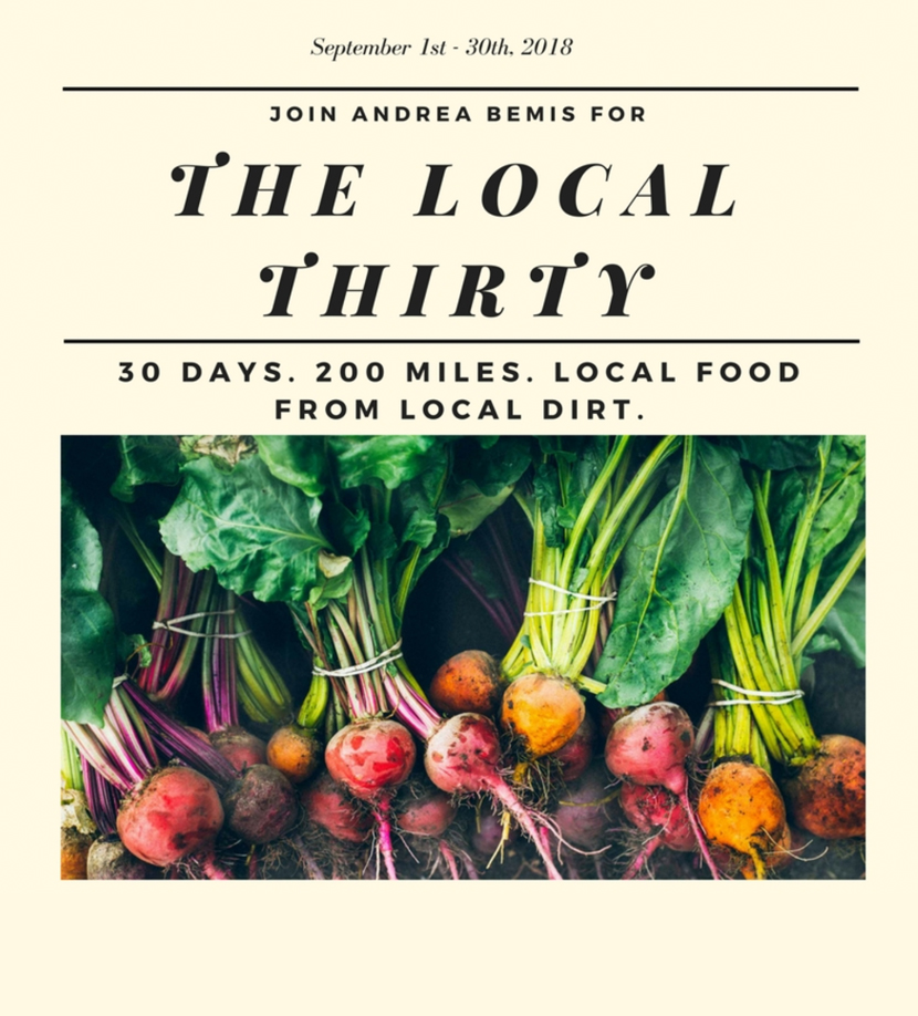A 30 day challenge of eating Local this fall. More on The Fresh Exchange with ANdrea Bemis from Tumbleweed Farm