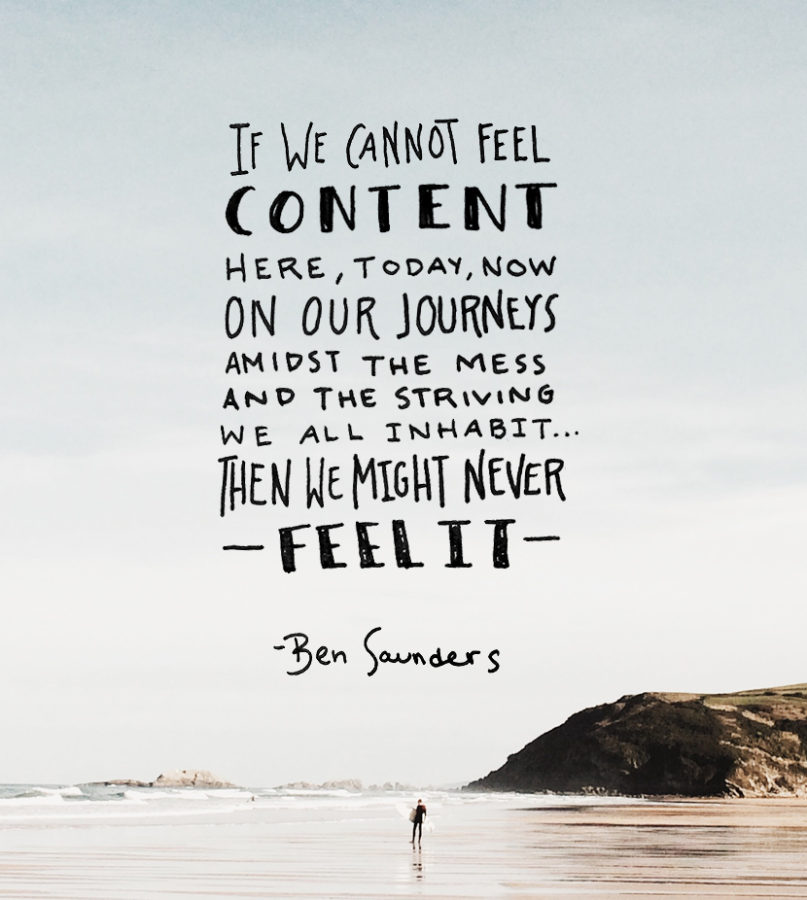 Monday Words: Content in the Journey   The Fresh Exchange