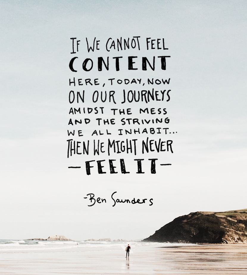 Monday Words: Content in the Journey | The Fresh Exchange