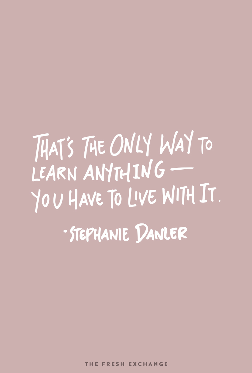 Sweetbitter Quote from Stephanie Danler's book  |  The Fresh Exchange