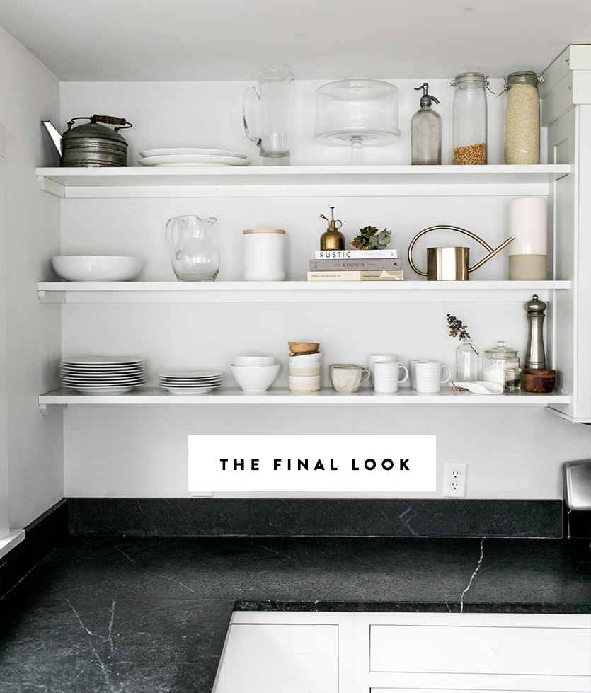 Open Shelf Kitchen Tips For Organizing Your Open Shelves This Spring Fresh Exchange