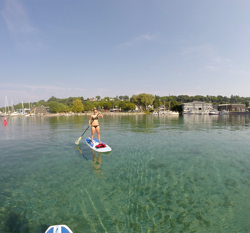 Paddle Boarding in Harbor Springs | The Fresh Exchange