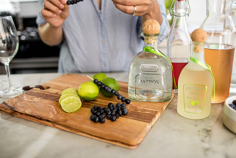 A Perfect summer Sangria with @Patron on The Fresh Exchange.