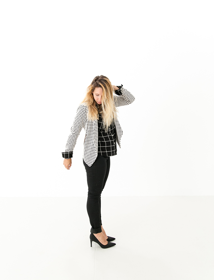 Black and White Pattern Play for Fall with Target Style | The Fresh Exchange