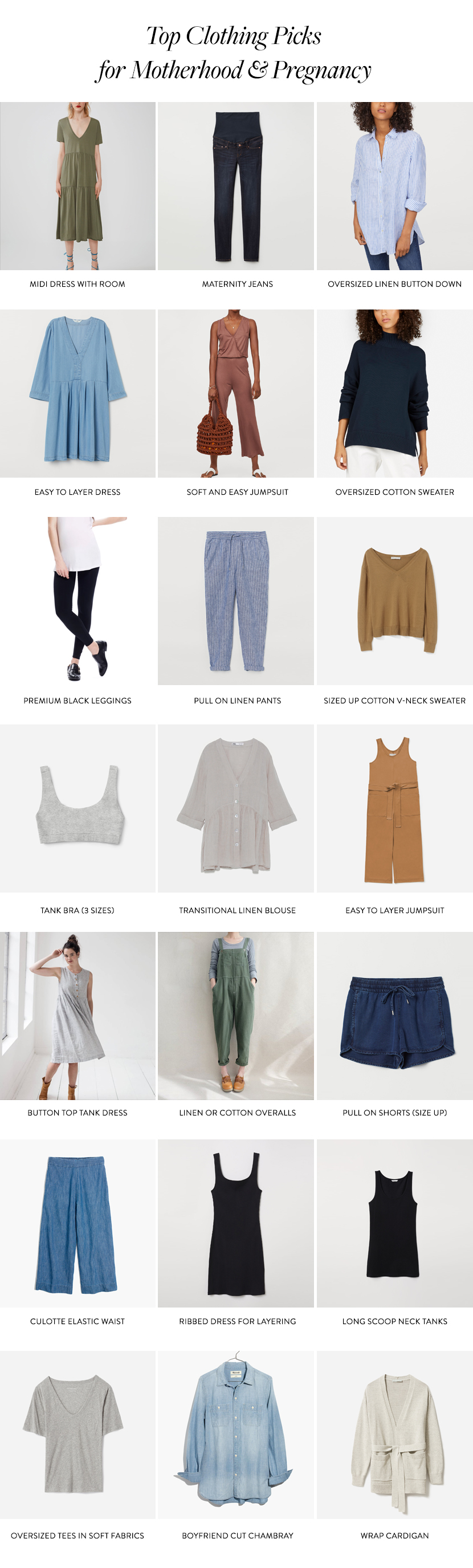 Transitional Wardrobe for Pregnancy and Motherhood on The Fresh Exchange
