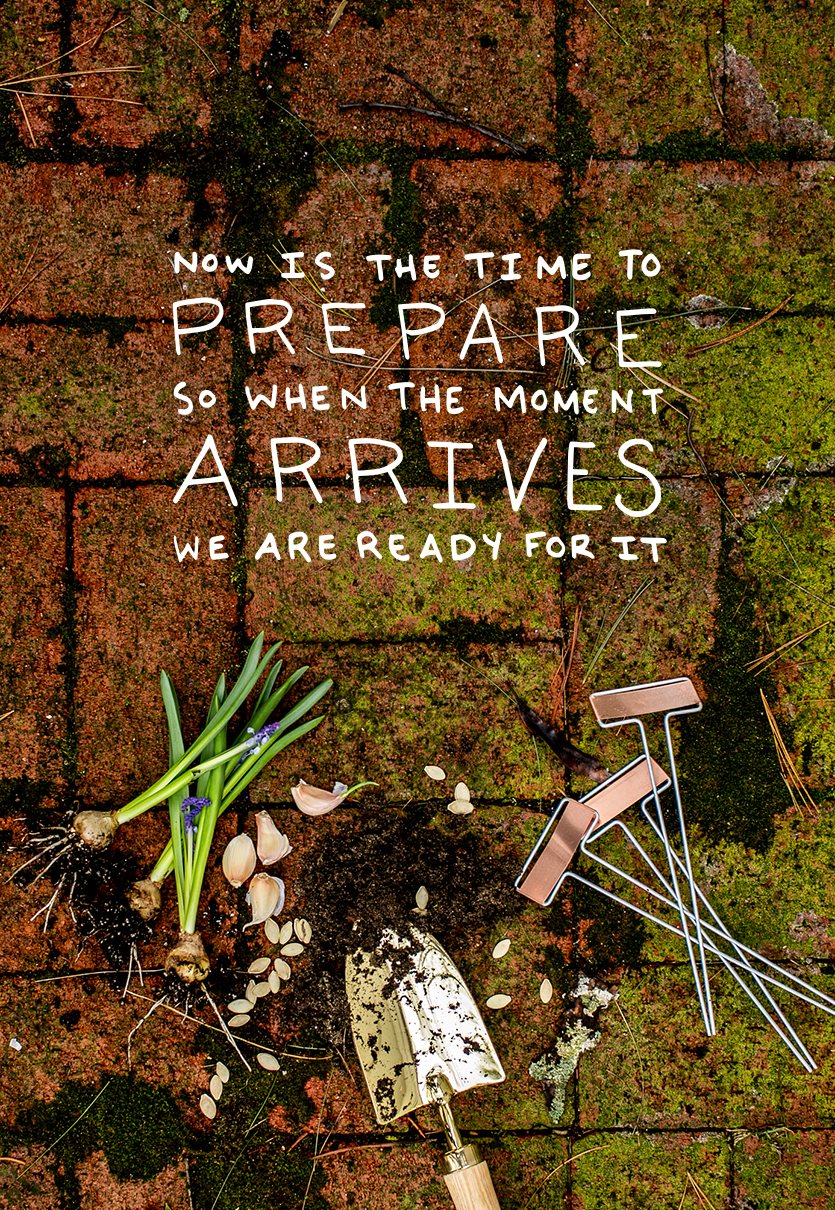 April is our month of preparation. We will spend this month preparing so when the time comes we are ready to bloom with the world around us. Read more about Preparing this month on The Fresh Exchange
