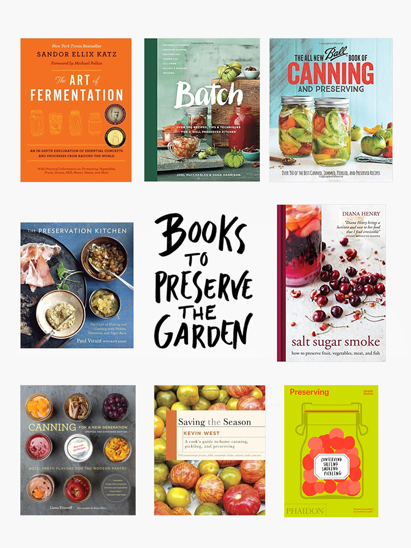 Books to help you preserve your Garden this fall. Get the list on The Fresh Exchange.