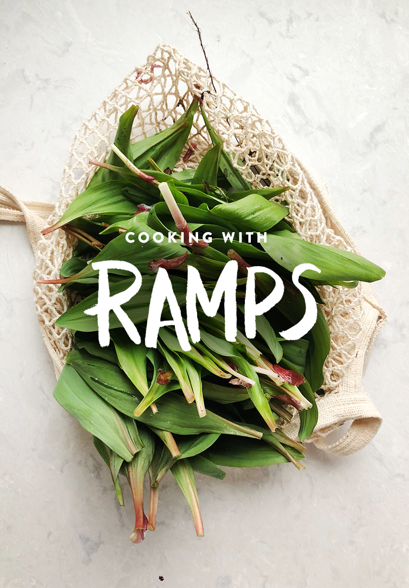 How to cook with Ramps or Wild Leeks on The Fresh Exchange.