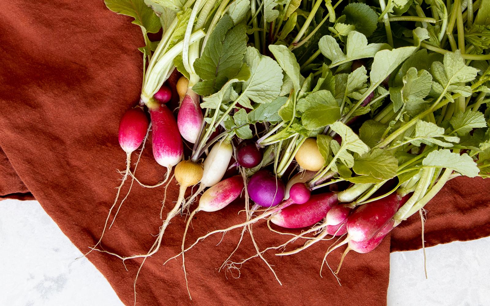 Roasted Radishes with Radish Green Pesto - Vegan Recipe on The Fresh Exchange