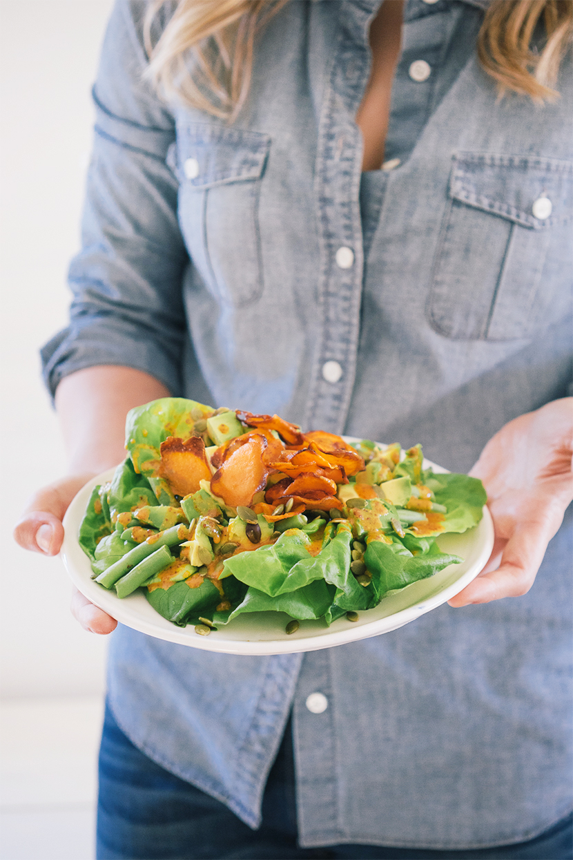 Salad Recipe: Bibb Lettuce and Sweet Potatoes  |  The Fresh Exchange
