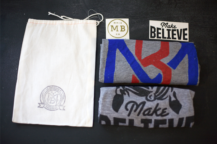 Make Believe Clothing Company, tshirts, awesome, hand made