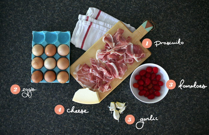 Egg Baskets, Easy Recipes, 5 ingredients, eggs